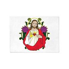 Sacred Heart Jesus Christ 5'x7'Area Rug