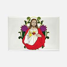 Sacred Heart Jesus Christ Rectangle Magnet (10 pac