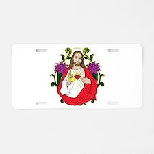 Sacred Heart Jesus Christ Aluminum License Plate