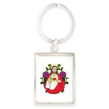 Sacred Heart Jesus Christ Portrait Keychain