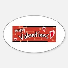 Happy Valentine's Oval Decal