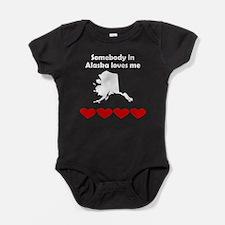 Somebody in Alaska Loves Me Baby Bodysuit