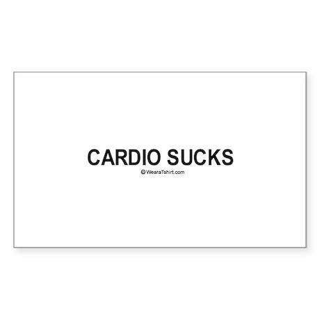 Cardio Sucks / Gym humor Rectangle Sticker