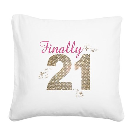 finally_21.png Square Canvas Pillow