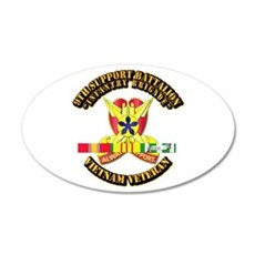9th Support Bn w SVC Ribbon Wall Decal