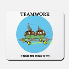 TEAMWORK CARTOON QUOTE Mousepad