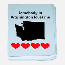 Somebody in Washington Loves Me baby blanket