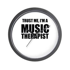 Trust Me, Im A Music Therapist Wall Clock