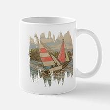 Hand Drawn Sailboats Mugs