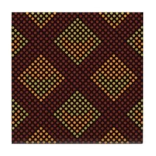 Polyester Dot Design 1 Tile Coaster