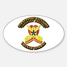 9th Support Battalion Sticker (Oval)