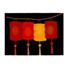 paper lanterns 5'x7'Area Rug