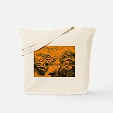 Asian pattern on porcelain, orange Tote Bag
