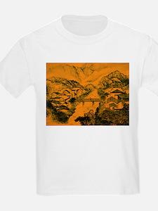 Asian pattern on porcelain, orange T-Shirt