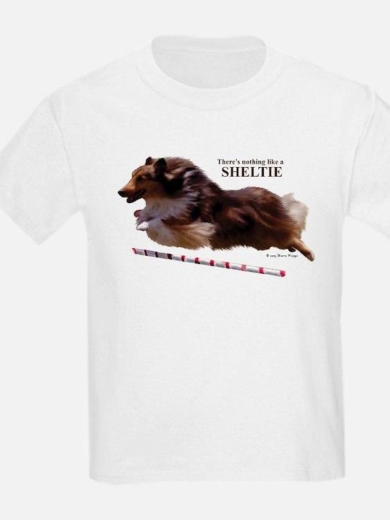 """Nothing Like A Sheltie!"" Kids T-Shirt"