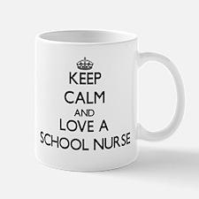 Keep Calm and Love a School Nurse Mugs