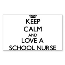 Keep Calm and Love a School Nurse Decal