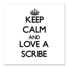 """Keep Calm and Love a Scribe Square Car Magnet 3"""" x"""
