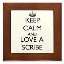 Keep Calm and Love a Scribe Framed Tile
