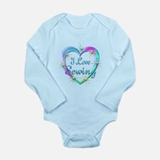 I Love Sewing Long Sleeve Infant Bodysuit