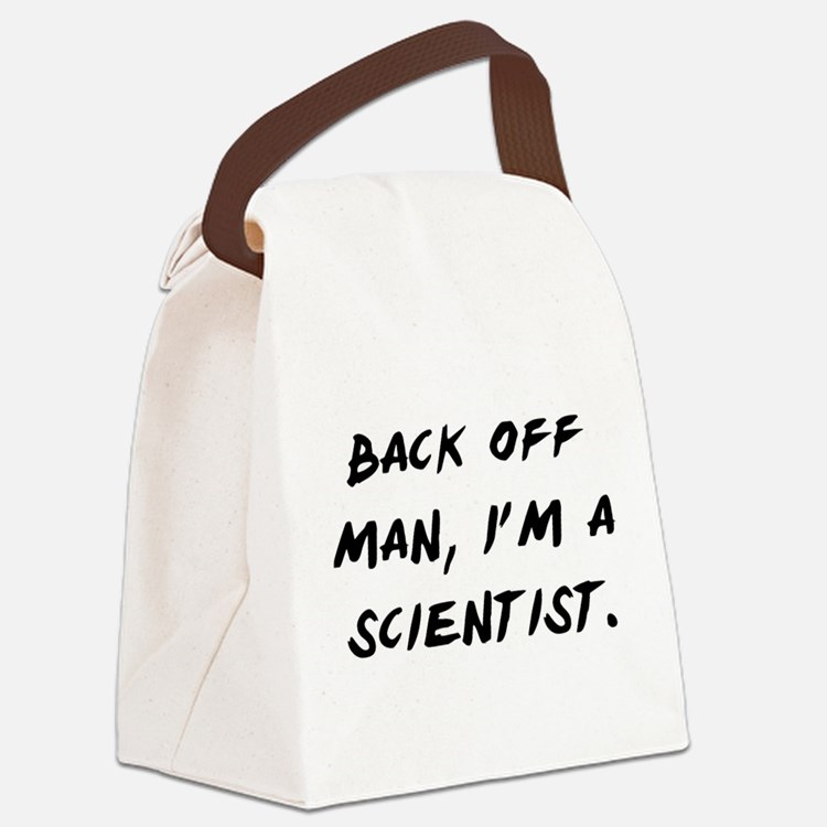 I'm a Scientist Canvas Lunch Bag