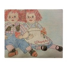 Raggedy Anne and Andy Throw Blanket