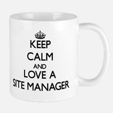 Keep Calm and Love a Site Manager Mugs