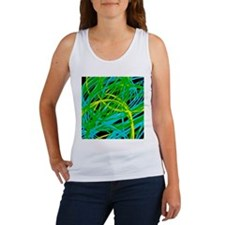 neon light show, green Tank Top