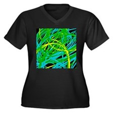 neon light show, green Plus Size T-Shirt