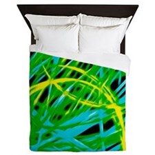 neon light show, green Queen Duvet