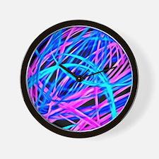 neon light show, blue Wall Clock