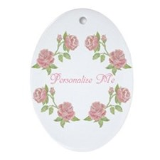 Personalized Rose Ornament (Oval)