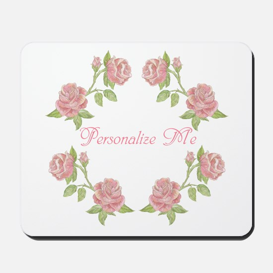 Personalized Rose Mousepad