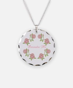 Personalized Rose Necklace