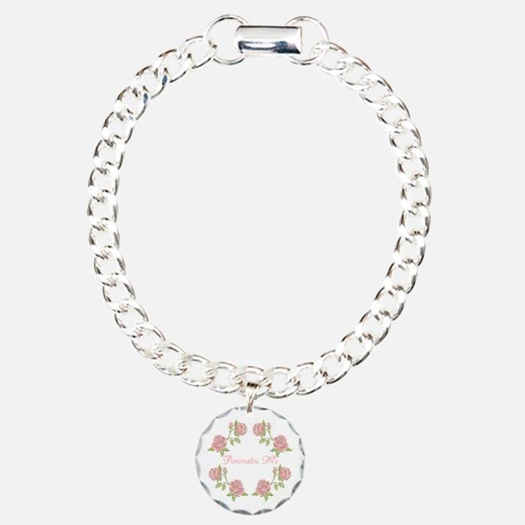 Personalized Rose Charm Bracelet, One Charm