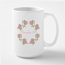 Personalized Rose Large Mug