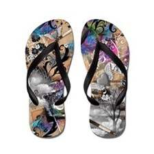 Artist and Writer Vintage Dreamy Cloud  Flip Flops
