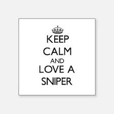 Keep Calm and Love a Sniper Sticker