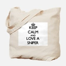 Keep Calm and Love a Sniper Tote Bag