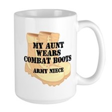Army Niece Aunt Desert Combat Boots Mugs