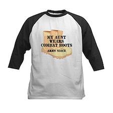 Army Niece Aunt Desert Combat Boots Baseball Jerse