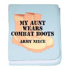 Army Niece Aunt Desert Combat Boots baby blanket