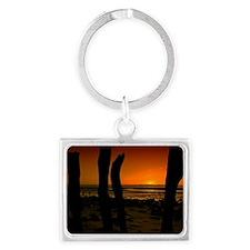 Sunset on Beach Landscape Keychain