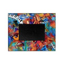 Music Trio Curvy Piano Colorful Abst Picture Frame