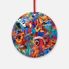 Music Trio Curvy Piano Colorful Abs Round Ornament