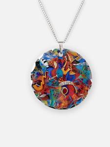 Music Trio Curvy Piano Color Necklace