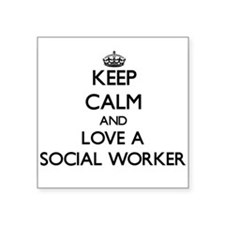 Keep Calm and Love a Social Worker Sticker