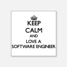 Keep Calm and Love a Software Engineer Sticker