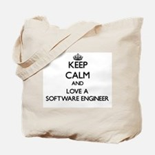 Keep Calm and Love a Software Engineer Tote Bag