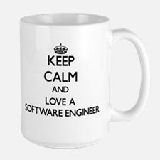 Keep Calm and Love a Software Engineer Mugs